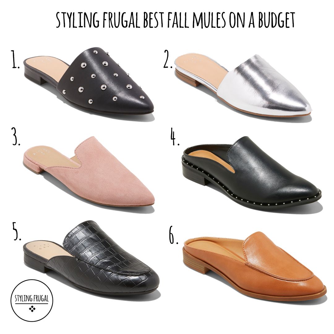 Best Affordable Fall Mules – Styling Frugal