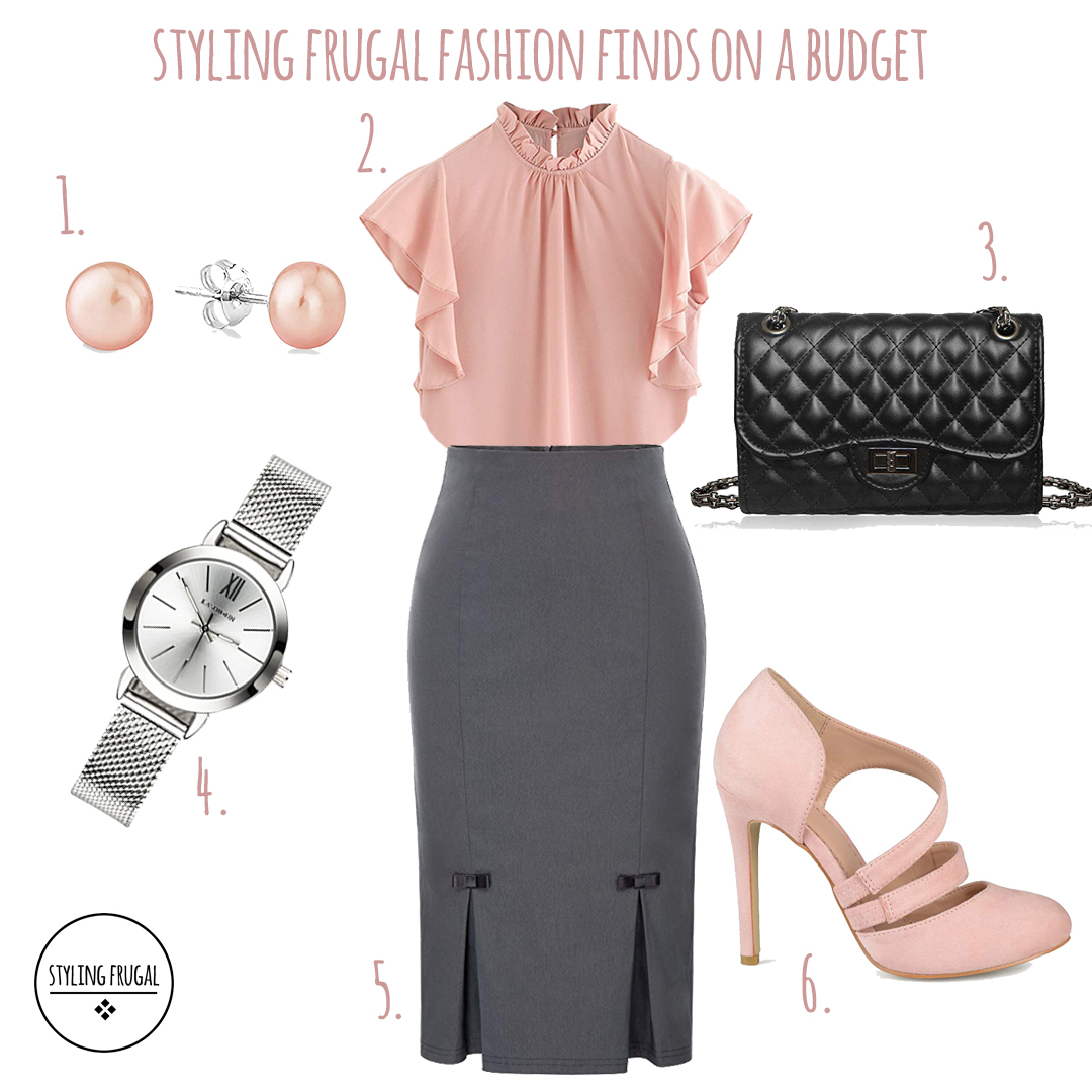 b7b540add02895 Gray Pencil Skirt- Outfit for the Office – Styling Frugal